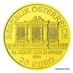 Zlatá investiční mince 1/4 Oz 25 EUR Wiener Philharmoniker stand
