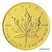 Zlatá investiční mince 1 Oz 50 CAD Maple Leaf stand