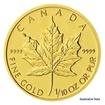 Zlatá investiční mince 1/10 Oz 5 CAD Maple Leaf stand