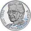 Milada Horáková - stříbro malá Proof