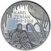 Mince ČNB - 2010 Proof - 200 Kč 100. výročí narození Karel Zeman
