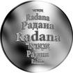 Česká jména - Radana - stříbrná medaile