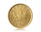 Zlatá investiční mince Maple Leaf 3,11 g (1/10 Oz)