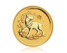 Zlatá investiční mince Australský lunární rok 2018 Pes 15,55 g (1/2 Oz)