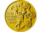 Zlatá investiční mince 5000 Kč Rabí 2018 PROOF 15,55 g (1/2 Oz)