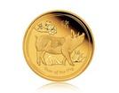 Zlatá investiční mince Australský lunární rok 2019 Vepř 3,11 g (1/10 Oz)