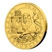 Zlatá pětiuncová investiční mince Český lev 2019 stand 155,5 g (5 Oz)