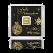 Zlatý investiční slitek GEIGER originál 1 g .9999 Vánoční edice