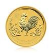 Zlatá investiční mince Australská Lunární Série II. 2017 Kohout 7,78 g (1/4 Oz)