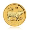Zlatá investiční mince Australská Lunární Série II. 2019 Vepř 7,78 g (1/4 Oz)