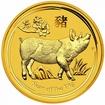 Zlatá investiční mince Australský lunární rok 2019 Vepř 1 Oz