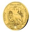 Zlatá 1/4 Oz investiční mince Český lev 2020 proof 7,78 g