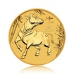 Zlatá investiční mince Australský Lunární rok 2021 Buvol 15,55 g (1/2 Oz)