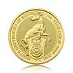 Zlatá investiční mince Queen's Beast White Greyhound 2021 31,1 g (1 Oz)