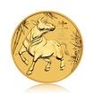 Zlatá investiční mince Australská Lunární Série III. 2021 Buvol 7,78 g (1/4 Oz)