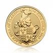 Zlatá investiční mince The Queen's Beast 2018 Black Bull 31,1 g (1 Oz)