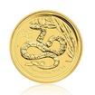 Zlatá investiční mince Australská Lunární Série II. 2013 Had 3,11 g (1/10 Oz)