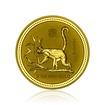 Zlatá investiční mince Australská Lunární Série I. 2004 Opice 62,2 g (2 Oz)