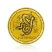 Zlatá investiční mince Australská Lunární Série I. 2001 Had 62,2 g (2 Oz)
