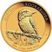 Zlatá investiční mince Australian Kookaburra 3,11 gramu (1/10 Oz)
