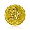 Zlatá investiční mince Australská Lunární Série II. 2012 Drak 62,21 g (2 Oz )