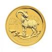 Zlatá investiční mince Australská Lunární Série II. 2015 Koza 15,5 g (1/2 Oz)