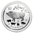 Perth Mint Stříbrná mince Year of the Pig - Rok Vepře 1 oz (2019)