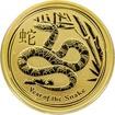 Zlatá investiční mince Year of the Snake Rok Hada Lunární 1/2 Oz 2013