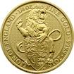 Zlatá investiční mince The Queen´s Beasts The Lion 1/4 Oz 2016