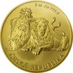Zlatá pětiuncová investiční mince Český lev 2018 Standard