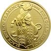 Zlatá investiční mince The Queen´s Beasts The Black Bull 1/4 Oz 2018