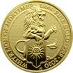 Zlatá investiční mince The Queen´s Beasts The White Lion 1/4 Oz 2020