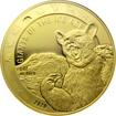 Zlatá investiční mince Obři doby ledové - Medvěd jeskynní 1 Oz 2020