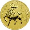 Zlatá investiční mince Year of the Ox Rok Buvola Lunární 2 Oz 2021