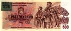 500 Kčs emise 1973 kolkovaná 1993