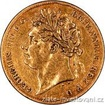 Zlatá mince half sovereign George IV. half sovereign