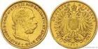 Zlatá mince Dvacetikoruna Františka Josefa I. rakouská ražba 1895 20 koruna