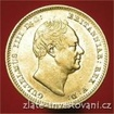 Zlatá mince britský sovereign William IV. sovereign