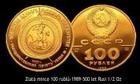 Zlatá mince 100 rublů-1989-500 let Rusi 1/2 Oz