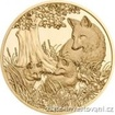 Zlatá mince 100 Eur-Liška-rakouská série Wild life 2016 1/2 Oz