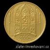 Zlatá mince hrad Bezděz 2016-Proof-série hrady 1/2 Oz