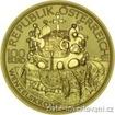 Zlatá mince císařská koruna svatého Václava 2011-100 eur 1/2 Oz