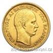 Zlatá mince 20 drachem 1884-George I. 20 drachem