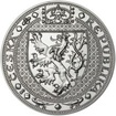 Nejkrásnější medailon II. Královská pečeť - 1 kg Ag b.k.