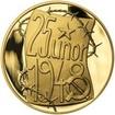 Memento 25. února 1948 - komunistický puč v Československu - 1/2 Oz zl