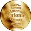 Česká jména - Antonie - zlatá medaile