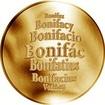 Česká jména - Bonifác - zlatá medaile