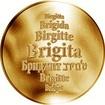 Česká jména - Brigita - zlatá medaile