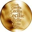 Česká jména - Cecílie - zlatá medaile