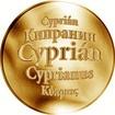 Slovenská jména - Cyprián - velká zlatá medaile 1 Oz